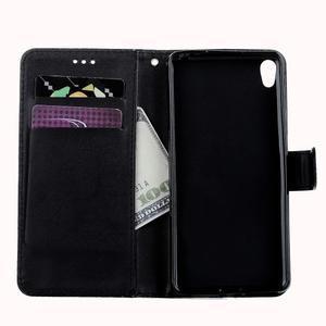 Motýlkové PU kožené pouzdro na mobil Sony Xperia E5 - černé - 7