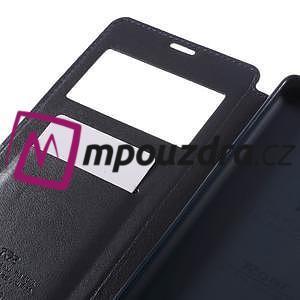 Richi PU kožené pouzdro s okýnkem na Sony Xperia XA Ultra - tmavěmodré - 7
