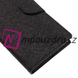Diary PU kožené pouzdro na mobil Sony Xperia XA Ultra - černé - 7