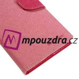 Diary PU kožené pouzdro na mobil Sony Xperia XA Ultra - růžové - 7