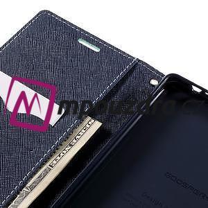 Diary PU kožené pouzdro na mobil Sony Xperia XA Ultra - azurové - 7