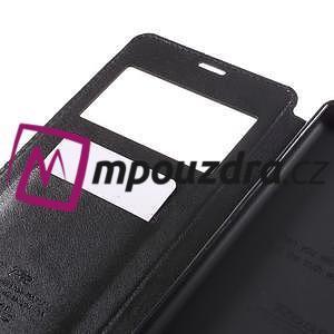 Richi PU kožené pouzdro s okýnkem na Sony Xperia XA Ultra - černé - 7