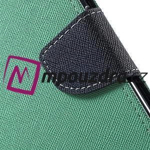 Diary PU kožené pouzdro na mobil Asus Zenfone 3 Deluxe - azurové - 7