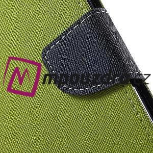 Diary PU kožené pouzdro na mobil Asus Zenfone 3 Deluxe - zelené - 7