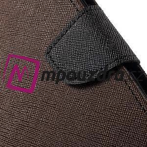 Diary PU kožené pouzdro na mobil Asus Zenfone 3 Deluxe - hnědé - 7