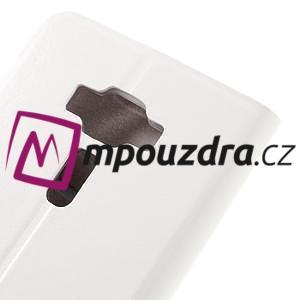Horse PU kožené pouzdro na Asus Zenfone 3 Deluxe - bílé - 7