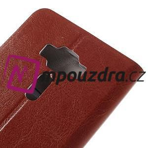 Horse PU kožené pouzdro na Asus Zenfone 3 Deluxe - hnědé - 7