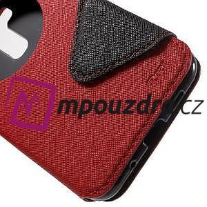 Diary pouzdro s okýnkem na mobil Asus Zenfone 3 ZE520KL - červené - 7