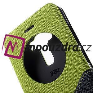 Diary pouzdro s okýnkem na mobil Asus Zenfone 3 ZE520KL - zelené - 7