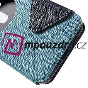 Diary pouzdro s okýnkem na mobil Asus Zenfone 3 ZE520KL - světlemodré - 7