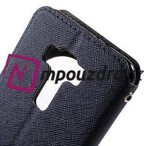 Diary pouzdro s okýnkem na mobil Asus Zenfone 3 ZE520KL - tmavěmodré - 7
