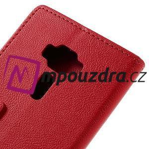 Leathy peněženkové pouzdro na Asus Zenfone 3 ZE520KL - červené - 7
