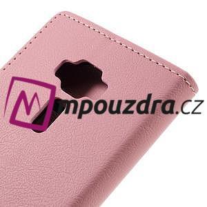 Leathy peněženkové pouzdro na Asus Zenfone 3 ZE520KL - růžové - 7