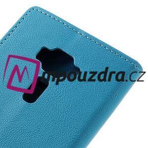 Leathy peněženkové pouzdro na Asus Zenfone 3 ZE520KL - světlemodré - 7