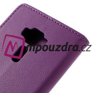 Leathy peněženkové pouzdro na Asus Zenfone 3 ZE520KL - fialové - 7