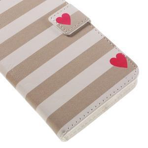 PU kožené pouzdro na mobil Honor 5X - srdce - 7