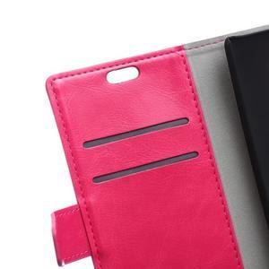 Horse peněženkové koženkové pouzdro na Huawei Honor 5X - rose - 7