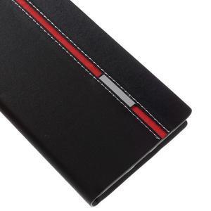 Klopové PU kožené pouzdro na Huawei Honor 5X - černé - 7