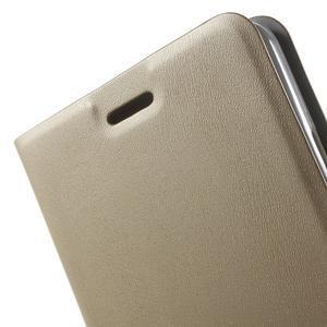 Peněženkové PU kožené pouzdro na mobil Honor 5X - champagne - 7
