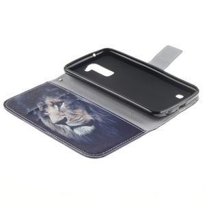 Peněženkové pouzdro na mobil LG K10 - lev - 7