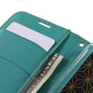 Style PU kožené pouzdro pro LG K10 - zelenomodré - 7