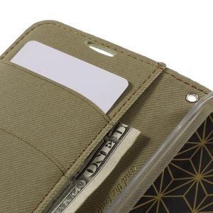 Style PU kožené pouzdro pro LG K10 - khaki - 7