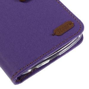 Style PU kožené pouzdro pro LG K10 - fialové - 7