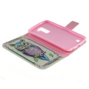 Peněženkové pouzdro na mobil LG K10 - sova - 7