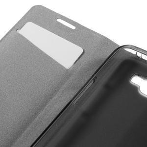 Horse PU kožené pouzdro na mobil LG K4 - bílé - 7