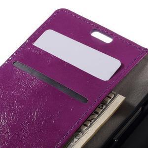 Fialové peněženkové pouzdro na LG K4 - 7