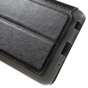 Cross peněženkové pouzdro s okýnkem na LG Zero - černé - 7