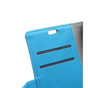 Wallet pouzdro na mobil Lenovo A1000 - modré - 7