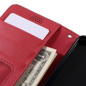 Funny peněženkové pouzdro na mobil Microsoft Lumia 650 - červené - 7