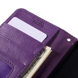 Funny peněženkové pouzdro na mobil Microsoft Lumia 650 - fialové - 7