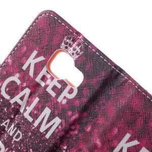Peněženkové pouzdro na mobil Samsung Galaxy A3 (2016) - keep calm - 7