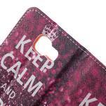 Peněženkové pouzdro na mobil Samsung Galaxy A3 (2016) - keep calm - 7/7
