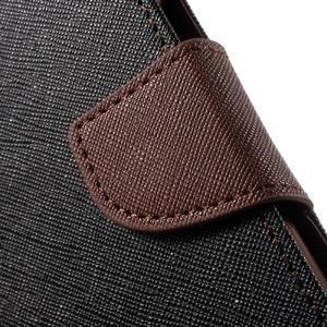 Goospery peněženkové pouzdro na Samsung Galaxy A3 (2016) - černé/hnědé - 7