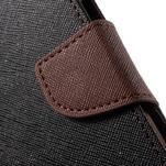Goospery peněženkové pouzdro na Samsung Galaxy A3 (2016) - černé/hnědé - 7/7