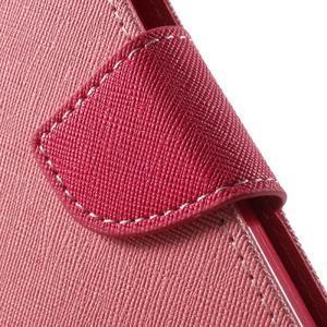 Goospery peněženkové pouzdro na Samsung Galaxy A3 (2016) - růžové - 7