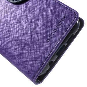 Goospery peněženkové pouzdro na Samsung Galaxy A3 (2016) - fialové - 7