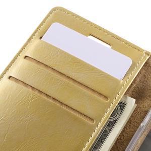 Mercury peněženkové pouzdro na Samsung Galaxy A3 (2016) - zlaté - 7