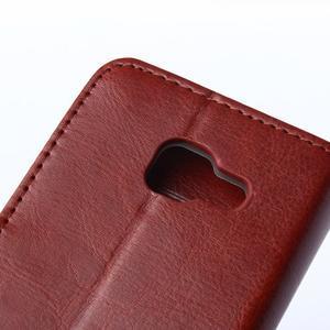 Wallet pouzdro na mobil Samsung Galaxy A3 (2016) - hnědé - 7