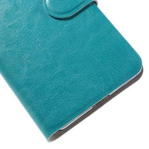 Horse peněženkové pouzdro na mobil Microsoft Lumia 650 - modré - 7