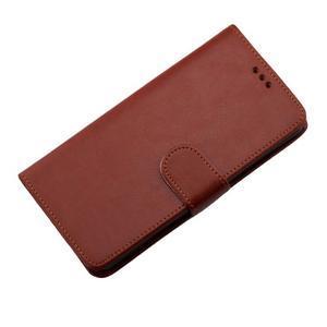 Horse PU kožené pouzdro na Sony Xperia M5 - hnědé - 7