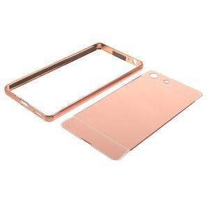 Kryt s kovovým obvodem pro Sony Xperia M5 - rose gold - 7
