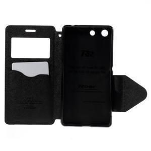 Diary pouzdro s okýnkem na Sony Xperia M5 - černé - 7