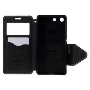 Diary pouzdro s okýnkem na Sony Xperia M5 - bílé - 7