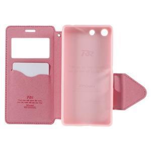 Diary pouzdro s okýnkem na Sony Xperia M5 - rose - 7