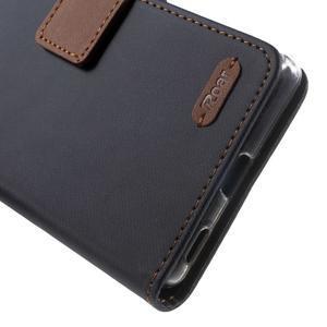 Wall PU kožené pouzdro na mobil Sony Xperia M5 - černé - 7