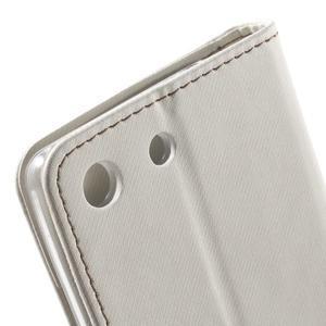 Wall PU kožené pouzdro na mobil Sony Xperia M5 - bílé - 7